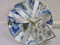 222 Fifth Maribelle Blue Dessert Appetizer Plates Set of 4