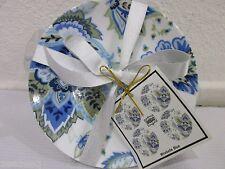 222 Fifth Maribelle Blue Dessert Appetizer Plates Set of 4 or 8