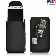 Turtleback Samsung Galaxy S4 Vertical Black Nylon Pouch Holster Metal Clip Case