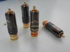 4x LT USA Gold Plated RCA Connector Plug Phono Jack HIFI Cable Connectors audio