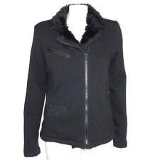 FOX Racing Sasquatch Black Faux Fur Lining Zip Front Jacket size Medium