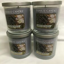 Yankee Candle (4) LAVENDER VANILLA 7 oz Single Wick Tumbler Jar Candles FOUR!!