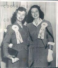 1953 Wire Photo Miss America 1953 With Miss Maine Atlantic City NJ