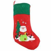 Christmas Stocking Socks Embroidered Red Felt Christmas Santa Stocking 17 I