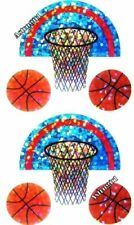 ~ Sparkle Basketball Hoop Net Basket Ball Game Hambly Studio Glitter Stickers ~