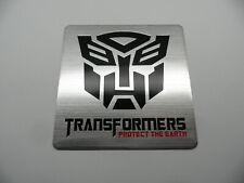 TRANSFORMERS - XL größe, Alu 3D Sticker, Plakette, Aufkleber, badge, Schriftzug