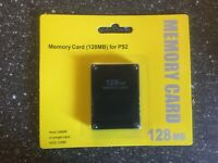 Playstation 2 Memory Card PS2 128MB NEW NIB Pack Sony PS Game Console System