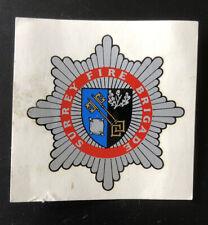 SURRY FIRE BRIGADE  soak & slide Fire Helmet Transfer Badge