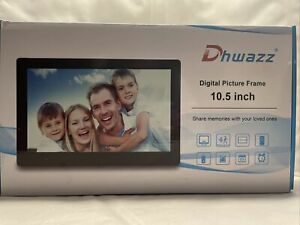 Dhwazz Digital Photo Frame 10.5 Inch USB IPS HD Electronic Motion Sensor, Remote