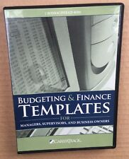 Budgeting & Finance Templates For Managers Supervisors & Business Owners Cd Rom