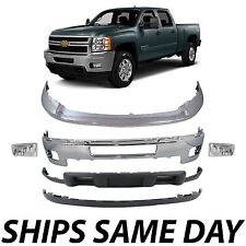 NEW Chrome - Steel Front Bumper Kit for 2011-2014 Silverado 2500HD 3500HD W/ Fog
