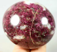 Natural Beauty Red tourmaline Polished Crystal Palm Stone Specimen Healing