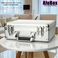 Silver Mens Briefcases Aluminum Flight Cases Office Certificate File Storage Box