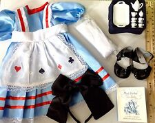 "Alice in Wonderland for American Girl Doll Halloween Costume 18"" Clothes SET"
