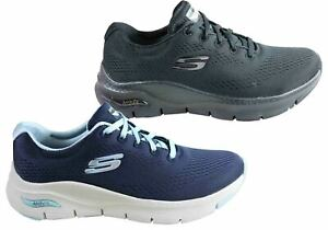 NEW SKECHERS WOMENS ARCH FIT SUNNY OUTLOOK COMFORTABLE LACE UP SHOES