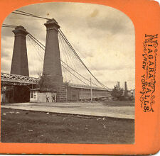 G. CURTIS NIAGARA FALLS NEW YORK STEREOVIEW NIAGARA  SUSPENSION BRIDGE