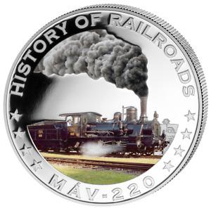 Liberia 2011 $5 History of Railroads - Mav 220 Proof Silver Coin