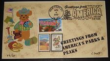 #3605 ANON E. MOUSE CACHETS CYNTHIA SCOTT VERMONT GREETING FROM AMERICA FDC