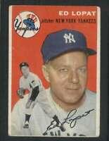 1954 Topps #5 Ed Lopat VG/VGEX Yankees 79914