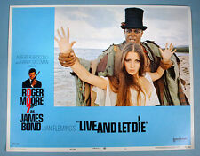 1973 James Bond 007 Live & Let Die 8 Orig. Lobby Cards Complete Set Roger Moore