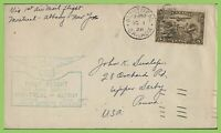 Canada 1928 First Flight cachet Cover, Montreal to Albany