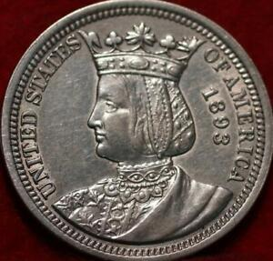1893 Philadelphia Mint Silver Isabella Quarter
