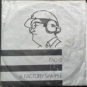 """A Factory Sample - Joy Division 2x7"""" gatefold sleeve with 1 sticker - 1979"""
