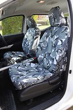 Nissan Navara NP300 Double Cab 2016+ Grey Camouflage Front & Rear Seat Covers