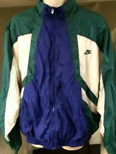 Vintage🔥 Nike Swoosh Athletic Full Zippered Winter Jacket Lined Skii Retro XL