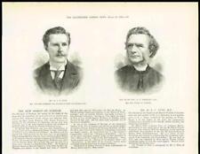 1878 antica stampa-Le persone REV Wescott Vescovo Durham MR CUST MP (237 A)