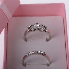 New Fashion 2X/Set Midi Ring Set Silver Plated Crystal Rhinestone Womens Gifts