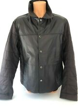 CALVIN KLEIN JEANS MENS LEATHER FRONT QUILTED BACK AND SLEEVE  JACKET XXL