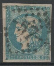 "FRANCE STAMP TIMBRE 44 B "" BORDEAUX 20c BLEU TYPE I REP 2 "" OBLITERE TB  N545"