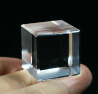 Natural CUBE STONE CLEAR QUARTZ CRYSTAL Platonic Solids Sacred Geometry