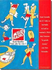 Publicité Advertising 1995 - sud radio  (Advertising paper)