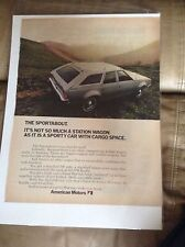 AMC Sportabout Wagon Magazine Ad - Sporty Car with Cargo Space