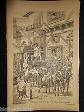 ANTIQUAIRE Sporting impression de courrier Stade/diligence (Fore's Notes/Sport c1886)