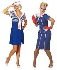 Matrosin Matrose Marine Sailor Navy Girl Uniform Kostüm Kleid Matrosekostüm See