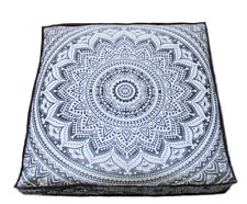 """Mandala 35"""" Large Square Floor Pillow Cover Hippie Ottoman Pouf Daybed Cotton"""