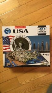 4D Cityscape USA History Over Time Puzzle