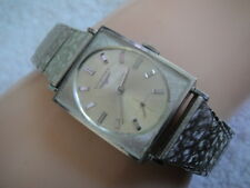 Vintage Longines 10k White Gold GF Mens Tank Dress Watch Cal. 370 17J 1960