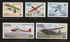 planeurs de 5 TIMBRES MNH 1982 Russie #5071-5