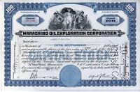 Maracaibo Oil Exploration Corporation Stock Certificate - 100 shares - Delaware