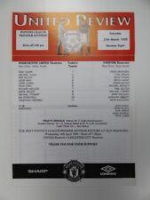 More details for manchester united v everton | 1998/1999 | reserves | 27 mar 1999 | uk freepost
