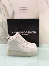 Windsor Smith Pinto Ranch Patent White Sneaker Woman Hi Top Casual Wedge 39