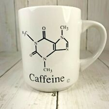 Caffeine Chemical Structure Diagram On Coffee Mug Cup