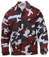 Military Style BDU Shirt Coat Red Camo Camouflage Rothco 7913