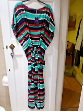 BNWT TWIGGY FOR MARKS & SPENCER COLLECTION NAVY MIX BEACHWEAR MAXI DRESS SIZE 22