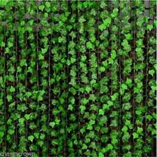 2.5M Artificial Grape Ivy Vine Leaf Garland Plants Green Fake Foliage Decors UK~
