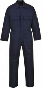 PORTWEST Bizweld Flame Resistant Coverall Overall Safety Workwear BIZ1 Navy NEW